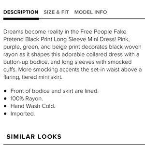 0a07e5b81ee6f0 Free People Dresses - Free People black fake pretend dress